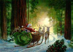 As Santa loaded his magic sack,