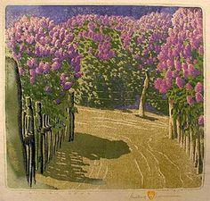 A Lilac Year, woodcut by Gustav Baumann