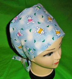 136837f1c477e Ladies EASTER BONNETS Nurses Surgical Scrubs Scrub Cap Hat Pixie Tie Back Hat  Cap