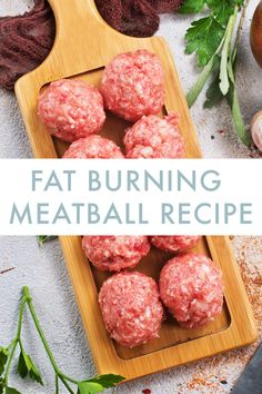 Prepping healthy foods ahead of time can make your life so much easier and your . - Prepping healthy foods ahead of time can make your life so much easier and your fitness goals that - Meatball Recipes, Beef Recipes, Low Carb Recipes, Cooking Recipes, Recipies, Keto Foods, Healthy Meatballs, Keto Meatballs, Best Fat Burning Foods