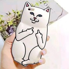 Amazon.com: Iphone 6 Plus-5.5 Inch Case, Feymer™ 3D Cartoon Middle Finger Pocket Base White Kitty Cat Case For Iphone 6 Plus-5.5 Inch Soft Silicon Phone Cases (White): Cell Phones & Accessories