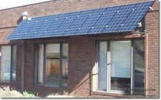 Solar power panel awnings