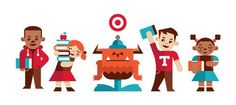 Illustration | Ty Wilkins illustrations for Target #graphicDesign #advertising #children