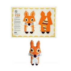 Super Mignon Animal coasters set de quatre-ours Racoon Badger /& Fox-Sass /& Belle