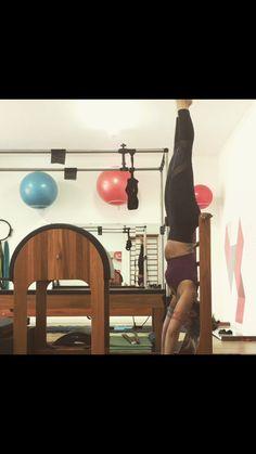 Sottile Pilates Handstand no Barrel Handstand, Ladder, Barrel, Exercise, Yoga, Gym, Dance, Pilates Studio, Artists