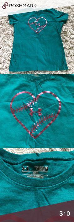 Girls Under Armour softball tee Worn once! Under Armour Shirts & Tops Tees - Short Sleeve