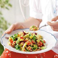 Couscous Salad with Flame-Roasted Peppers