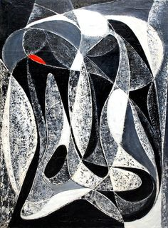 art-and-fury: Black and White (Color Flow series) - Seymour Fogel