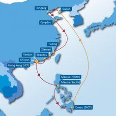 BMX SERVICE: Dalian – Xingang – Qingdao – Fuqing – Xiamen – Shantou – Hong Kong(HIT) – Yantian – Chiwan – Hong Kong(HIT) – Manila(South) – Manila(North) – Davao – Dalian
