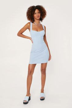 Athletic Dresses, Square Necklines, More Cute, Nasty Gal, Nice Dresses, My Style, Mini, Makeup, Party