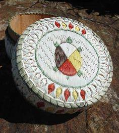 Porcupine Quill Basket by Delia Beboning - Turtle