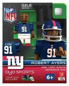 91 Robert Ayers New York Giants Defensive End-Limited Edition OYO  minifigure San Diego 95420d050bf10