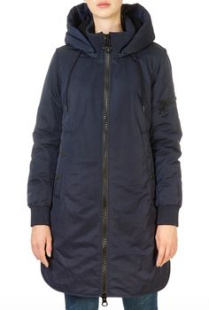 This is the 'Helen' Midnight Blue Coat by stunning brand Creenstone. This gorgeous piece features a detachable hood, a central double zipper fastening, and side zip pockets. This is the perfect piece to carry you into the colder season! Long Black Puffer Coat, Blue Coats, Winter Coats Women, Midnight Blue, Shop Now, Raincoat, Jackets, Zipper, Shopping