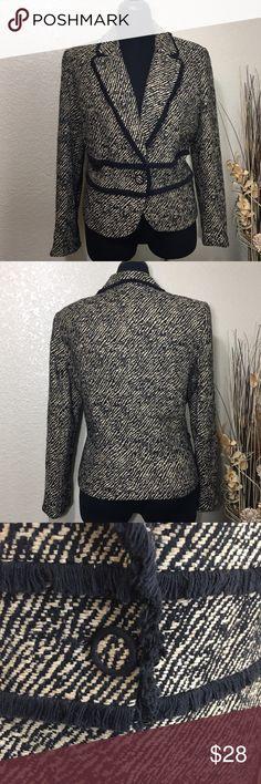Incognito Animal Print Jacket Tan and black animal print jacket with black fringe detail, extra button. Print Jacket, Fashion Tips, Fashion Design, Fashion Trends, Blazers, Coats, Animal, Button, Detail