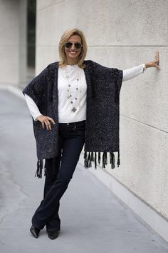 This week on my blog our Navy Gold Cardigan Vest with fringe and Clover Necklace set both available in our shop www.jacketsociety.com