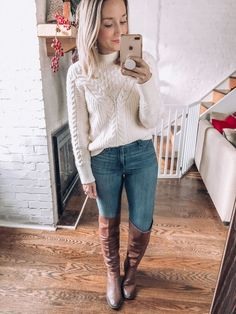 - fall outfit ideas - winter outfit ideas - how to wear over the knee boots