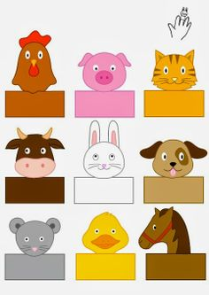 farm-animals-finger-puppets « Preschool and Homeschool Farm Animals Preschool, Farm Animal Crafts, Finger Puppet Patterns, Finger Puppets, Paper Puppets, Puppet Crafts, Farm Theme, Art N Craft, Preschool Activities