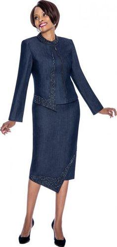 Susanna 3662 Womens Asymmetrical Church Suit