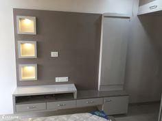 Bedroom Tv Unit Design, Tv Unit Furniture Design, Tv Unit Interior Design, Interior Ceiling Design, Ceiling Design Living Room, Room Door Design, Tv In Bedroom, Interior Design Services, Modern Bedroom