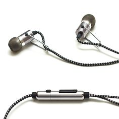 For the ultimate in portability, quality and style, these earbuds are a smart choice for any on-the-go audiophile. They feature an in-line microphone that allows for hands-free calling and a remote that offers excellent smartphone playback control. Best Noise Cancelling Headphones, Wireless Headphones, In Ear Headphones, Tablet Phone, Headphone With Mic, Sound Design, Audiophile, Tech Accessories, Industrial Design