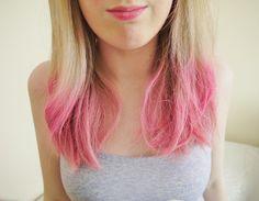 pink hair dip