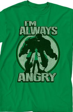 Im Always Angry Hulk T-Shirt: Marvel Comics Hulk Mens T-Shirt