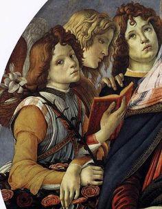 Sandro Botticelli   Madonna of the Pomegranate (Madonna della Melagrana) -  detail c. 1487