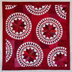 Family Circle by Julia Graber.  Art quilt, SAQA