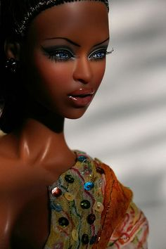 ooak african american barbies | high brow adele makeda # fashion royalty # fashion doll # barbie