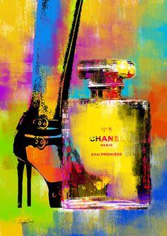 Colour outside the lines. Chanel Wall Art, Chanel Decor, Fashion Wallpaper, Fashion Wall Art, Collage Art, Pop Art, Art Drawings, Canvas Art, Illustration Art