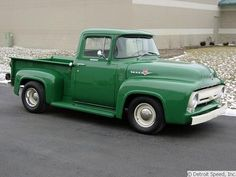 Tim Allen's Ford It's on my bucket list to have a old truck and restore it Old Ford Pickup Truck, 1956 Ford Truck, Vintage Pickup Trucks, Old Ford Trucks, Antique Trucks, Ford 56, 56 Ford F100, Ford Bronco, Hot Rod Trucks