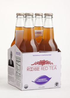 Mmm... 4 bottles of goodness. Want to win 84 bottles? Join up at http://facebook.com/rooibeeredtea. They're giving away free TEAshirts each Friday in March, and on 3/31, 1 lucky winner will win a case/month for 7 months (1 for each flavor).