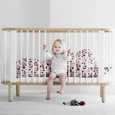 FLEXA 5 in 1 BABY COT BED in White and Beech £499 https://instagram.com/milka_interiors/