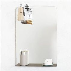 Handy House Doctor Room mirror with shelf. Cream mirror is ideal to combine the living room, hall or bedroom. Fits nicely in the Scandinavian minimalist trend. Combine things off with the items from the new collection House Doctor! House Doctor, Bathroom Mirror With Shelf, Bathroom Medicine Cabinet, Bad Inspiration, Bathroom Inspiration, Ledge Shelf, Minimal Bathroom, Decoration Design, Home