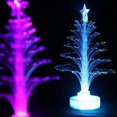#Twinkledeals - #TwinkleDeals Jueja Novelty Glowing Fiber Optic Christmas Tree Night Lamp Led Bottom Sticker Night Light for Children Romantic Home Decorative - AdoreWe.com