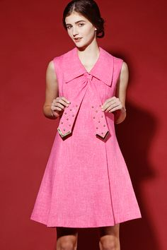 Shop Vintage 1960s Studded Shift Dress http://thriftedandmodern.com/vintage-1960s-studded-dress
