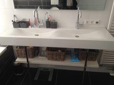 Opbergkasten in de keuken Bruin bouw  Houten planken  Pinterest