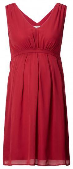 Ženska haljina bez rukava za trudnice NOPPIES - crvena