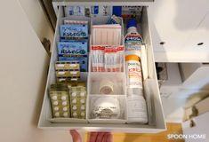 薬の整理収納アイデア・ケースのブログ画像 Lifehacks, Room Decor, Bathroom, Storage, Interior, Room, House Decorations, Washroom, Purse Storage