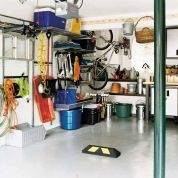 Most manufacturers of garage-organizing systems offer free space planning, so use their services as you research how to store all your gear. Before buying anything, take down your garage's dimensions and note the size and location of windows, doors, switches, and receptacles, as well as how much space your car takes up. Then use the following rules of thumb as you assign things a home.1. Items you use together, such as gardening tools and lawn chemicals, should be stored close to one anot...