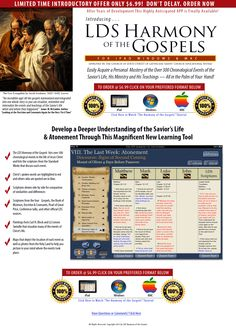 Harmony of the Gospels, LDS APP of the New Testament