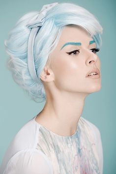 Amazing pale blue hair