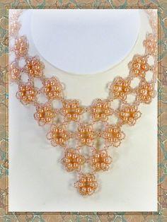 Joyería del grano de Beadweaving corte perlas en collar de