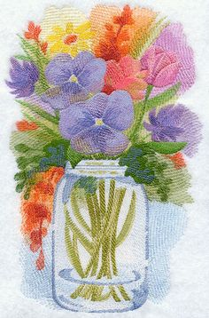 Watercolor Embroidery Designs--Gorgeous! Machine Embroidery Designs at Embroidery Library!