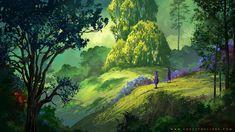 Forest of Liars : peaceful morning, Sylvain Sarrailh on ArtStation at https://www.artstation.com/artwork/1zwr2