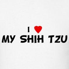 The Love of a Shitzu | Love My Shih Tzu | I Love Shirts - I Heart Shirts - Buy Custom Heart ...