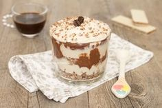 coppa mascarpone e caffè con Nutella e wafer