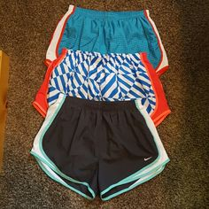 Nike running shorts ! All same style just different designs :) very fun shorts and all in excellent condition! Just don't need so many shorts :) would like to bundle but can separate ! Thanks ! Nike Shorts