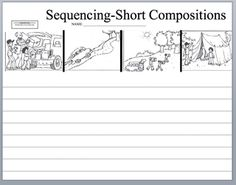 sequencing stories - a good introduction to using picture prompts