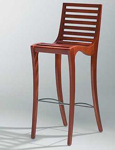 Chaise haute Mana contemporain design pour hotellerie restauration bar